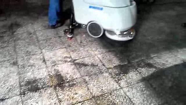 اسکرابر باطری دار ، زمین شوی شارژی ، دستگاه نظافت کف