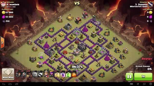 Clash of Clans - TH9 - GoHo - War 66 - Sorena vs #4
