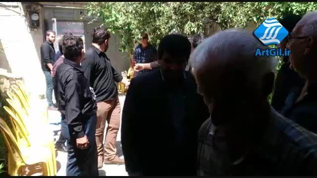 محمد حسن پور به دیدار خانواده مرحوم مسعود پور اکبری رفت