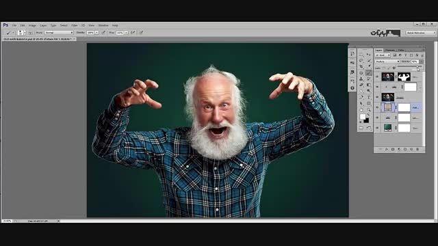 روتوش حرفه ای صورت پیرمرد - بخش دوم(آموزش ویژه -رایگان)