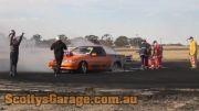 Burnout و آتش گرفتن ماشین