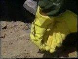 باز کردن کلاهک یک بمب شیمیایی عراق در حضور خبرنگاران خارجی و شیمیایی شدن خبرنگار