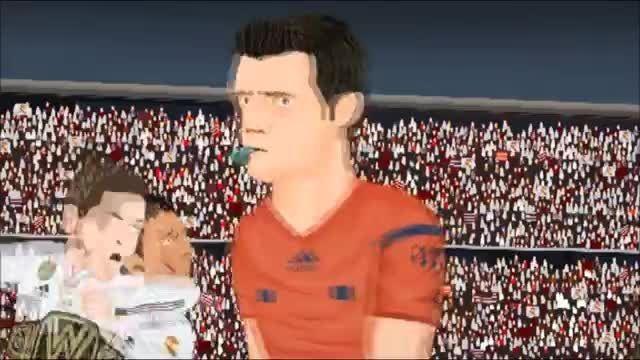کارتون بازی : رئال مادرید 1 - 0 اتلتیکو مادرید (1)