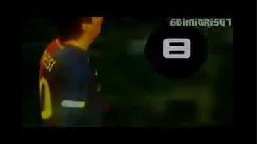 10 گل برتر مسی در سال 2008/2009(درخواستی نکیسا مسی)