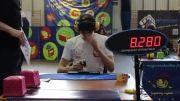 رکورد 23.68 در روبیک چشم بسته