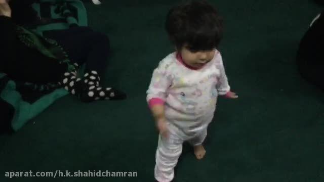 سینه زنی کودکان در پیاده روی اربعین