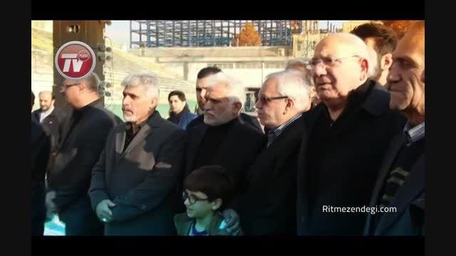 تشییع پیکر آقای گل استقلال پیش چشم علی دایی و مایلی کهن