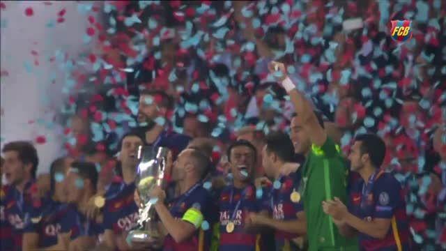 قهرمانی بارسلونا در سوپر کاپ اروپا
