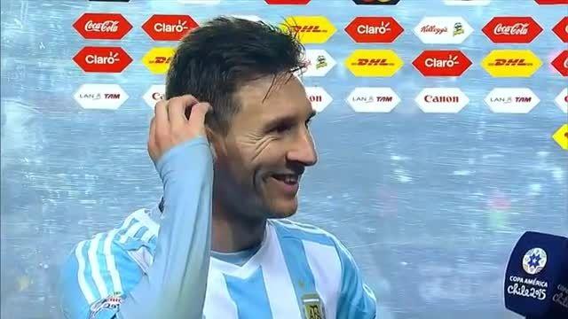 مصاحبه لیونل مسی پس از بازی مقابل پاراگوئه(کوپا آمریکا)