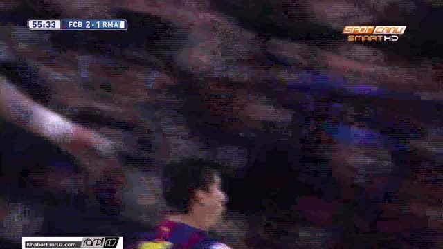 گل دوم بارسلونا به رئال مادرید