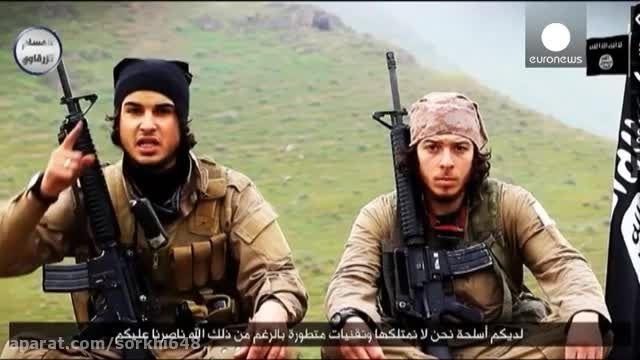 تهدید باز هم تهدید فرماندهان داعش ب انفجار فرانسه-سوریه