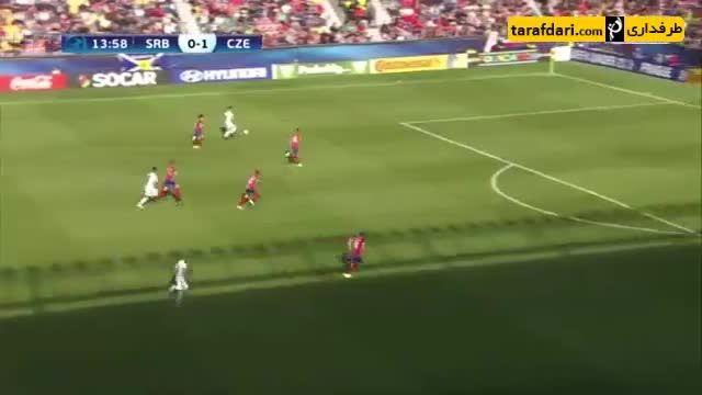 خلاصه بازی صربستان 0-4 جمهوری چک (یورو زیر 21 سال)