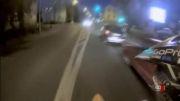 فرار زیبای موتورسوار از دست پلیس!!