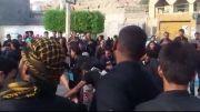 سینه زنی در عاشورای حسینی جمعی از هیات شهر سیراف