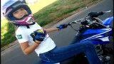 حرکات نمایشی دختر با موتور کراس