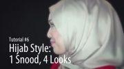 آموزش بستن شال - 4 حالت مختلف برای بستن روسری Snood