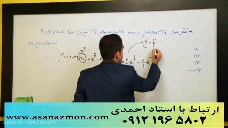 جدیدترین تدریس مهندس مسعودی کنکور (مشتق3) کنکوری 21