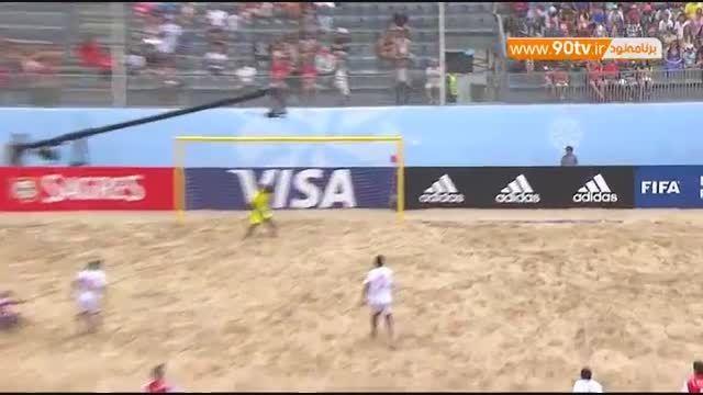 خلاصه فوتبال ساحلی: پاراگوئه ۴-۲ ماداگاسکار