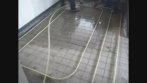 گرمایش از کف با آرماتوربند خودکار