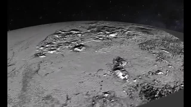 پروازی کوتاه بر فراز کوه و دشت های سیاره پلوتو