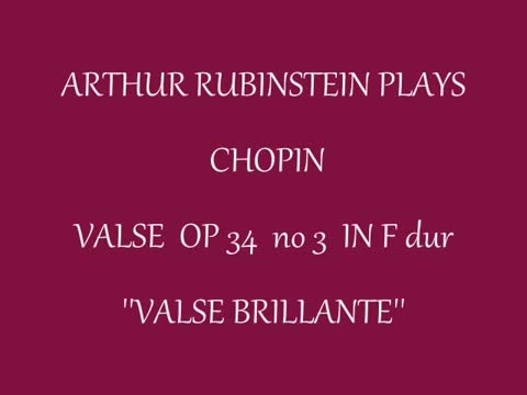 F.Chopin - Waltz in F Major op 34 no 3