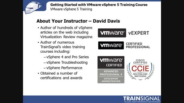 Lesson 01 - Getting Started with VMware vSphere 5
