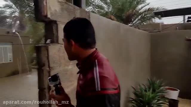 بارش فوق العاده باران در شهر انارستان استان بوشهر