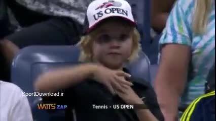 کلیپ لحظات خنده دار و سوتی های تنیس آمریکا 2015