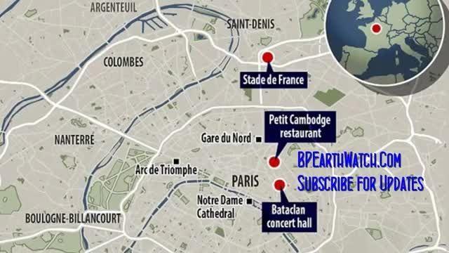 اماکن وقوع حوادث تروریستی در پاریس