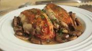 طرز تهیه مرغ سرخ کرده با قارچ