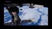 زمین از ورای پنجره ایستگاه فضایی