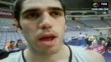 مصاحبه انگلیسی صمد نیکخواه بهرامی 2  بسکتبال
