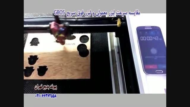مقایسه سرعت لیزر معمولی و لیزر GBOS