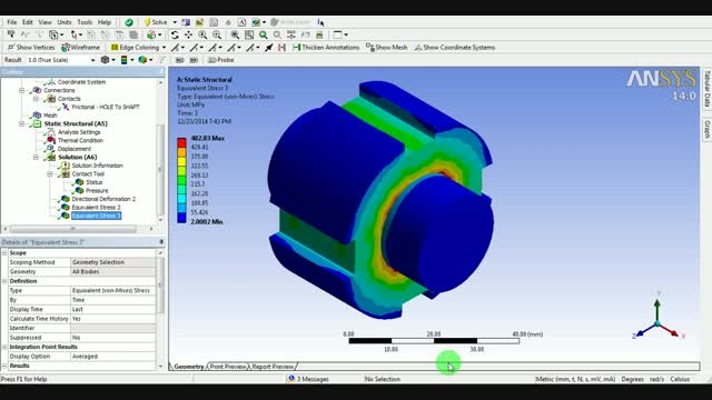 Abaqus Contact Model Tutorial - Three Point Bend