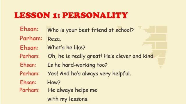 پایه نهم زبان انگلیسی - درس اول