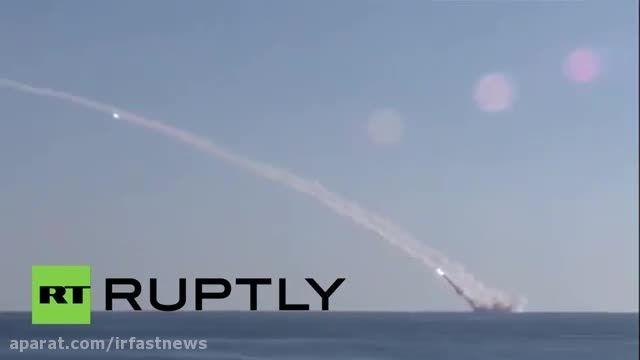 اولین حمله روسیه به مواضع داعش با زیر دریایی