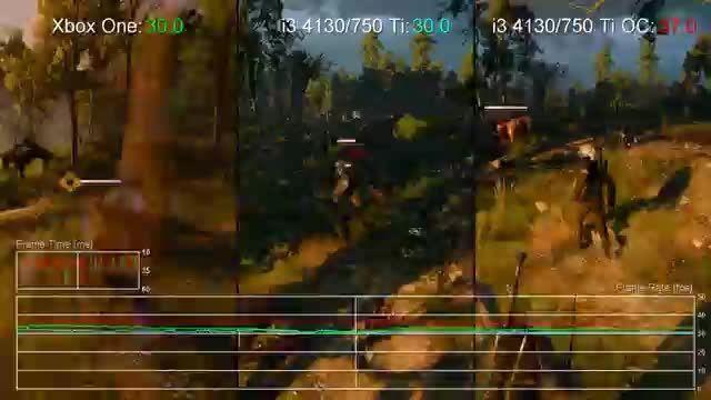 تست بازی Witcher 3 روی کنسول ایکس باکس و پی سی