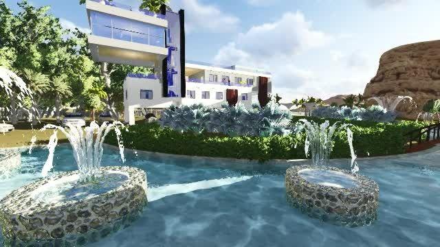 پروژه معماری سه بعدی خانه ویلایی کنار ساحل
