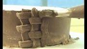 Roozmenu.com - آموزش تزئین کیک خامه ای به شکل سبد گل آفتابگردان