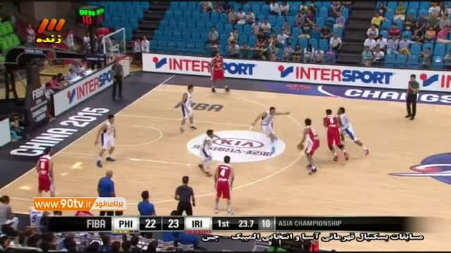 بسکتبال جام ملتهای آسیا ۲۰۱۵: ایران ۷۳-۸۷ فیلیپین