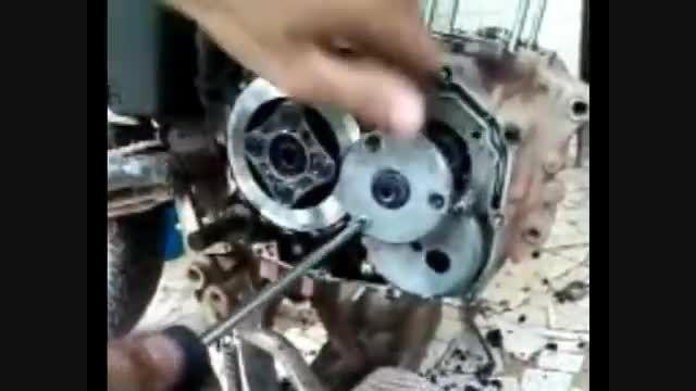 آموزش باز و بستن دیسک صفحه کلاچ موتورسیکلت 125
