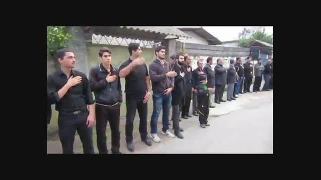 عزاداری هیئت عزاداران آغوزکله در مسجد قائم آل محمد (عج)