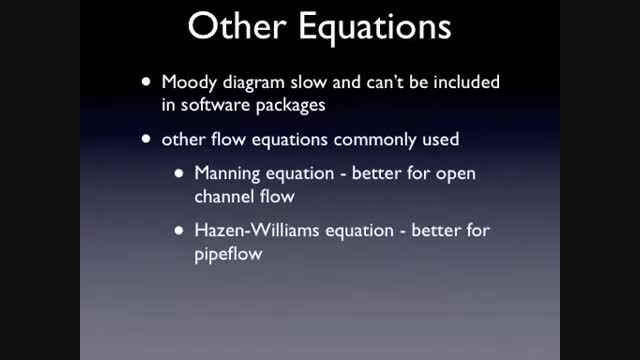 مکانیک سیالات 24 - معادله هیزن ویلیام