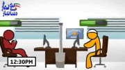 نماز اول وقت و ترک اینترنت : انیمیشن نماز