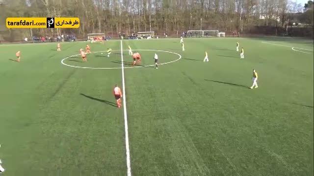 گل زیبای روز (32)- گل از وسط زمین در لیگ نوجوانان هلند