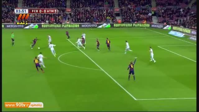 خلاصه بازی بارسلونا و اتلتیکو مادرید