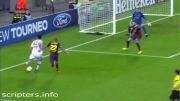 گل به خودی پیکه در بازی میلان - بارسلونا با پاس گل کاکا