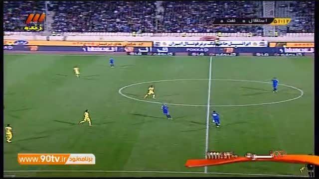 خلاصه بازی: استقلال ۲-۱ نفت تهران