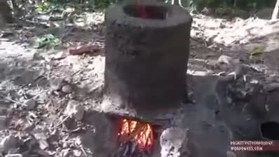 ساخت کلبه ای زیبا در جنگل بدون هیچ ابزاری