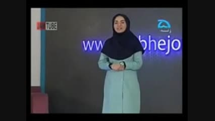 فرو رفتن بازیگر خنده بازار در دکور برنامه زنده